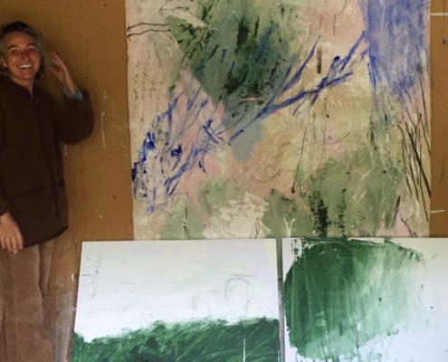 07 in transit - Sigrid Glöerfelt Sigrid Gloerfelt - Mixed Media on Canvas - 350x200 - Studio - 2019