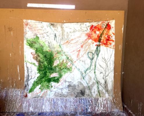 08 in transit - Sigrid Glöerfelt Sigrid Gloerfelt - Mixed Media on Canvas - 250x250 - Untitled 4 - 2019
