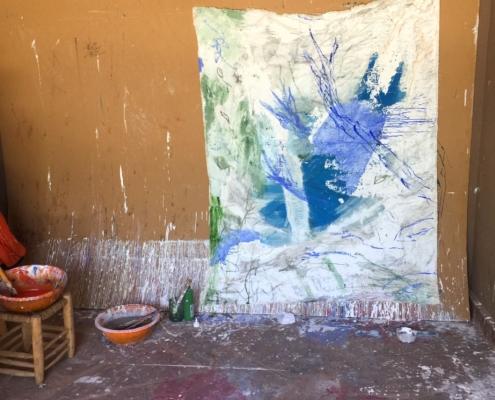09 in transit - Sigrid Glöerfelt Sigrid Gloerfelt - Mixed Media on Canvas - 280x220 - Untitled 5 - 2019